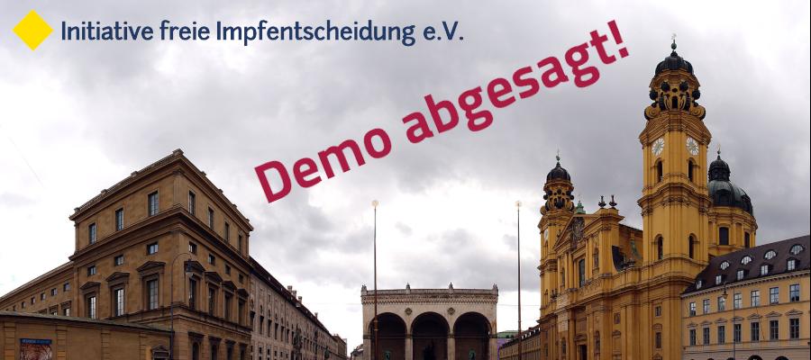 Demo in München abgesagt