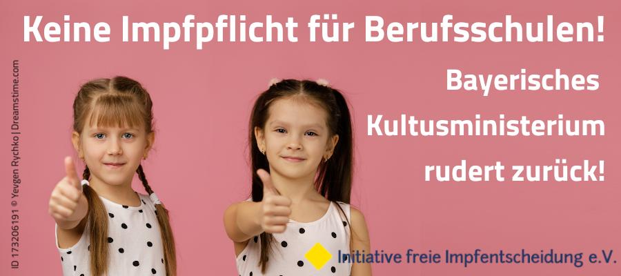 Erfolg – Kultusministerium rudert zurück! Keine Impfpflicht für Berufsschulen!