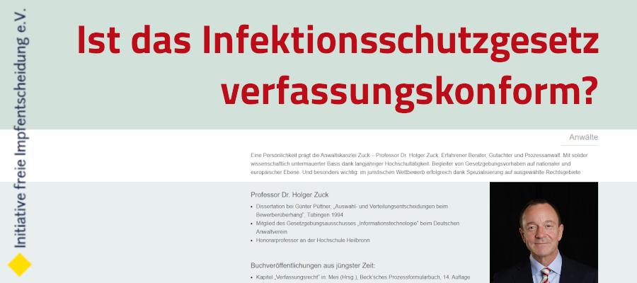Verfassungsbeschwerde und Gutachten Infektionsschutzgesetz